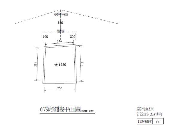 空間編號2:閣樓平面圖